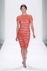 #6 EMBROIDERED BANDED LACE SHEATH DRESS WITH TROMPE L'OEIL COLLAR