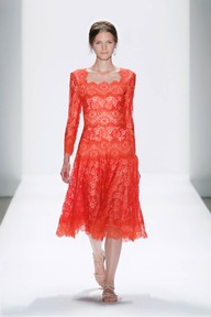 #11 CHANTILLY LACE 3/4 SLEEVE A-LINE DRESS