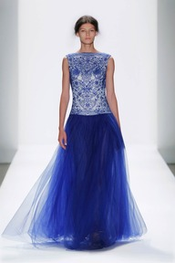 #33 TULLE AND EMBROIDERED LACE BATEAU NECKLINE BALL GOWN