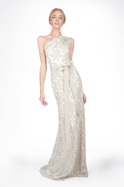 #3 EMBROIDERED LACE ONE SHOULDER GOWN