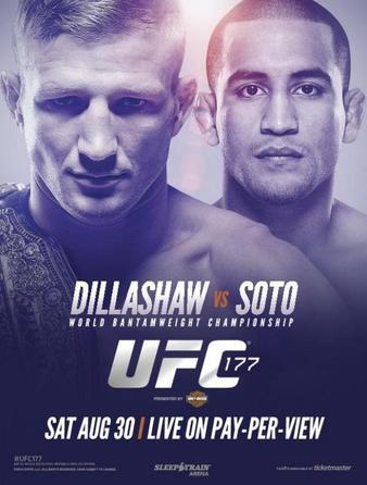 UFC 177: Dillashaw vs. Soto Results & Bonuses UFC_177_Dillashaw_vs._Soto_Poster