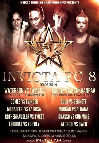 Invicta FC 8: Waterson vs. Tamada Results Invicta_FC_8_Poster
