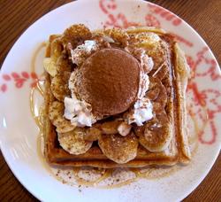 Banana & Cinnamon Waffle
