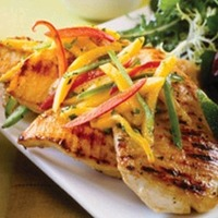 Grilled Garlic Chicken with Bell Peppers Recipe