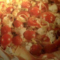 Petali di lasagne con pomodorini e ricotta. Recipe
