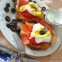 Eggs Benny Salmon Benedict -- special sauce Recipe