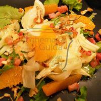 Insalata di lattughino , finocchio e arance. Recipe