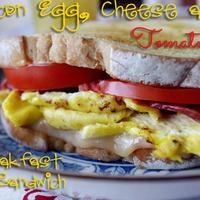 Bacon, Egg, Cheese and Tomato Sandwich Recipe