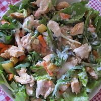 Light salad of pineapple and chicken Recipe