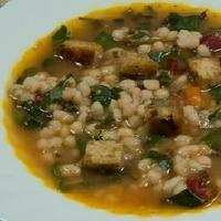 Haricot bean and Swiss chard soup Recipe