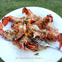 Broiled Brown Butter Lobster Scampi Recipe
