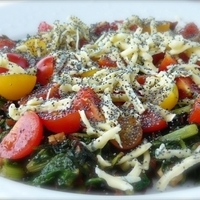 TOMATOES WITH POPPY SEEDS AND SWISS CHARD Recipe