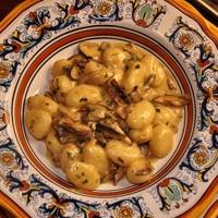 Gnocchi ai funghi (Potato Gnocchi with Mushroom Cream Sauce) Recipe