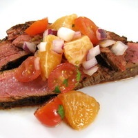 Skinny Sizzling Flank Steak with Citrus Salsa Recipe