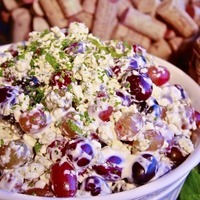 Texas de Brazil's Grape Salad with Roasted Apples and Gorgonzola Cheese Recipe
