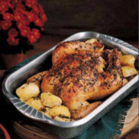 Greek Roasted Chicken and Potatoes Recipe
