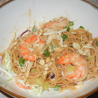 Thai Shrimp & Noodles with Peanut Sauce Recipe