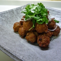 Japanese Cuisine: Deep-fried Meat Balls Recipe