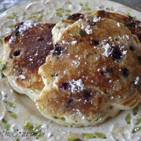 Blueberry and Basil Pancakes with Ginger and Lemon Zest Syrup Recipe