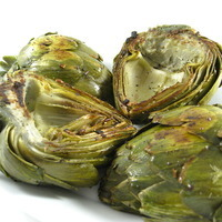 Fiber Rich Artichokes Sauteed in Low Fat Garlic Butter, Really! Recipe