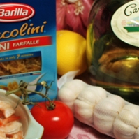 Italian Lemon Garlic Shrimp with Pasta Marinara Recipe