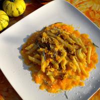 Pennette mantecate con crema di zucca e noci di Sorrento Recipe
