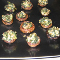 Stuffed Mushrooms with Feta & Spinach Recipe