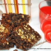 100% Low-Fat Walnut & Oatmeal Brownie's..;) Recipe