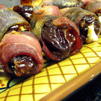 Bacon Wrapped Dates Stuffed With Gorgonzola Cheese Recipe