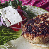 Greek Style Pork Burgers Recipe