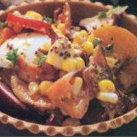 Two-Potato Salad With Bacon And Corn Recipe