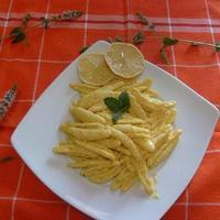 Maccheroni al limone. Sardinia Island. Recipe