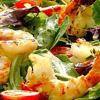 Citrus Grilled Shrimp over Greens Recipe