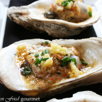 Grilled Oysters with Crawfish Butter, Pickled Corn and Chives Recipe