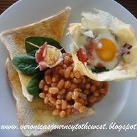Egg, tomato and spinach tarts Recipe
