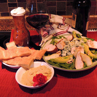 Applewood Smoked Chicken, Pear and Spinach Salad with Pomegranate Dressing Recipe