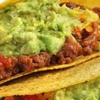 Cuban Picadillo Taco with Refried Black Beans and Avocado Mash Recipe