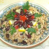 Рис тушенный с фасолью Recipe