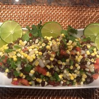 Black Bean and Corn Salsa with a Sherry Lime Cumin Vinergarette Recipe