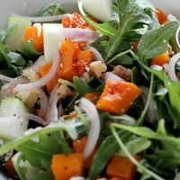 Butternut Squash, Apple, and Stilton Salad with Maple Vinaigrette Recipe