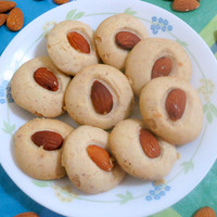 Eggless Almond cookies Recipe