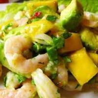 Cuban Shrimp and Avocado Salad with tamarind sauce. Recipe