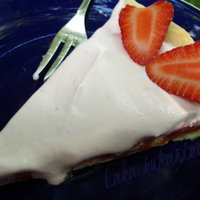 White chocolate pie with strawberries Recipe