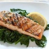 Grilled Salmon Steak with Lemon and wine Recipe
