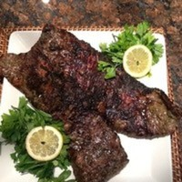 Grilled Skirt Steak Marinated in Green Chimichurri Recipe