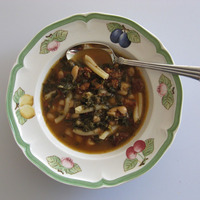 Beans, Greens and Sausage Soup Recipe
