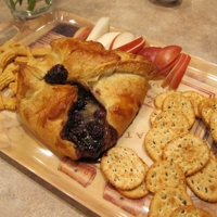 Brie in Puff Pastry with Blackberry and Rosemary Recipe