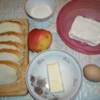 На батоне творожная ватрушка Recipe
