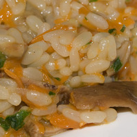 Risotto piccante con zucca e funghi porcini al peperoncino datil Recipe