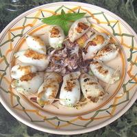 Grilled Stuffed Calamaretti-Involtini di Calamaretti con Mozzarela e Basilica Recipe